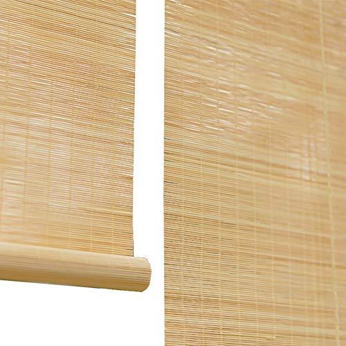 Seitenzug Springrollos Bambus-Rollos, Jalousien Mit Jalousien, Rollos Für Den Haushalt, Abschattungsschattierung, Schattierungsrate Von 60% (Farbe : Flat Curtain, größe : 110x220cm)