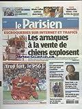 PARISIEN (LE) du 23/09/2012 - ESCROQUERIES SUR INTERNET ET TRAFICS - LES ARNAQUES A...