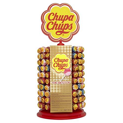 Chupa Chups 180er Lutscherrad plus 20 Lollis gratis | Lollipop-Ständer mit 7 leckeren Geschmacksrichtungen (Lutscher)