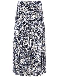 Roman Originals Women's Floral Print Burnout Maxi Skirt