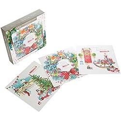 """Hallmark Tarjeta de Navidad BUMPER PACK """"Merry""""–Pack de 18"""