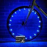 ACTIV Life Super Cool LED-Rad-Leuchten inklusive Batterien.Sichtbar von allen Blickwinkeln, ultimative Sicherheit und Stil (1 Reifenpaket)., blau, 1-Wheel