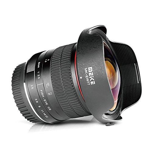 Meike Optics MK 8mm f3.5 Fisheye-Objektiv Ultra-Weitwinkel für Canon EF