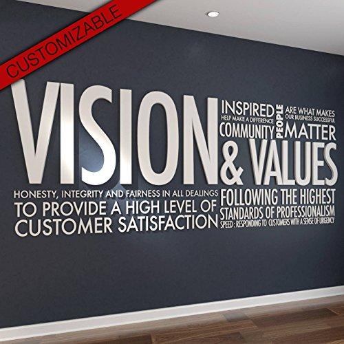 HomeArtDecor | Arte Pared 3D | Vision & Values | Adecuado