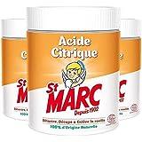 St Marc Acide Citrique Nettoyant Multi-Usage 100% d'Origine Naturelle 500 g - Lot de 3