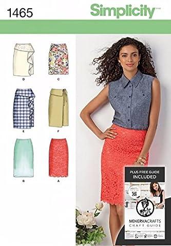 Simplicity Sewing Pattern 1465 Slim-jupe pour femme en 2 longueurs Tailles: 6 à 14