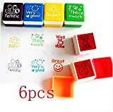 51o1BQ25z4L. SL160  - BEST BUY #1 LynLyn 6pcs Cartoon Stamp Stampers Words Symbols Kid Preschool Education Toys Reviews and price compare uk
