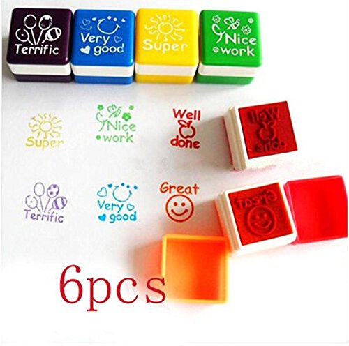 51o1BQ25z4L - BEST BUY #1 LynLyn 6pcs Cartoon Stamp Stampers Words Symbols Kid Preschool Education Toys Reviews and price compare uk