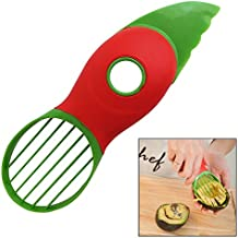 Latest 3-IN-1 Avocado Slicer With Knife, Pitter, Peeler, Cutter and Scoop. Voted Best Cooking Gadgets. Ideal Kitchen Utensil Tool For Preparing Salads. Takes Less Than 60 Seconds
