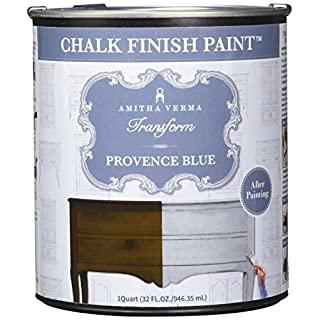 Amitha Verma Chalk Finish Paint, No Prep, One Coat, Fast Drying | DIY Makeover for Cabinets, Furniture & More, 1 Quart, (Provence Blue) by Amitha Verma