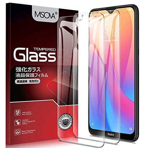 Vidro temperado MSOVA para filme Xiaomi Redmi 8A / Xiaomi Redmi 8, [Dureza 9H] [Alta transparência] [Sem bolhas] Protetor de tela Apropriado para Xiaomi Redmi 8A / Xiaomi Redmi 8 (Peças 2)