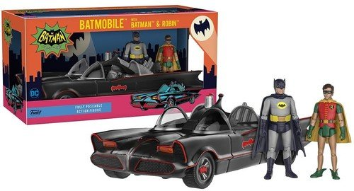 Funko DC Heroes 1966 Batmobile vehicle with Batman and Robin Action Figure