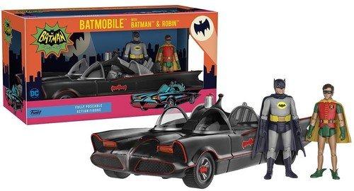 Funko DC Helden 1966Batmobil Fahrzeug mit Batman und Robin Action Figur