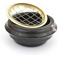 Räuchergefäß Netzgefäß aus Holz mit Metall Netz und Eiseneinlage zum Räuchern mit Kohle, Durchmesser ca. 9 cm preisvergleich bei billige-tabletten.eu