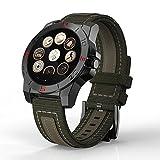 Teckey Smartwatch Sport Tracker Thermomètre Boussole Pédomètre Baromètre Homme Montre Connectée [MTK2501] Bluetooth 4.0 pour iPhone IOS + Android - Noir