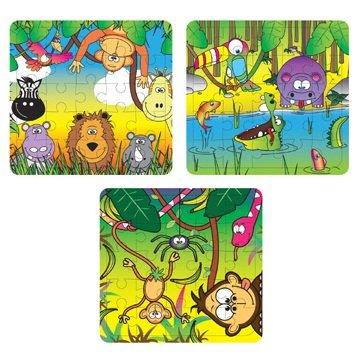 ANIMALI DELLA GIUNGLA - 25 pezzi mini puzzle - ragazzi bambina unisex...