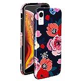 ZUSLAB Coque iPhone XR, Étui Caoutchouc Souple Mince avec Motif de Fleurs,...