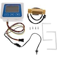 Duyummy Débitmètre numérique pour le débit d'eau avec capteur de débit G1/2