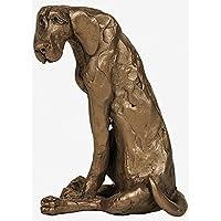 6632 60 cm Figur Skulptur Statue Gepard Cheetah Bronzeskulptur in silber L