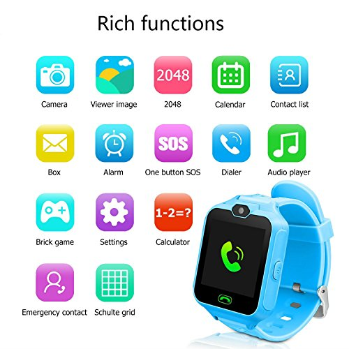 a801402b936 Hangang Smart Watch for Kids with Digital Camera Games Touch Screen,  Telephone SOS, Pedometer