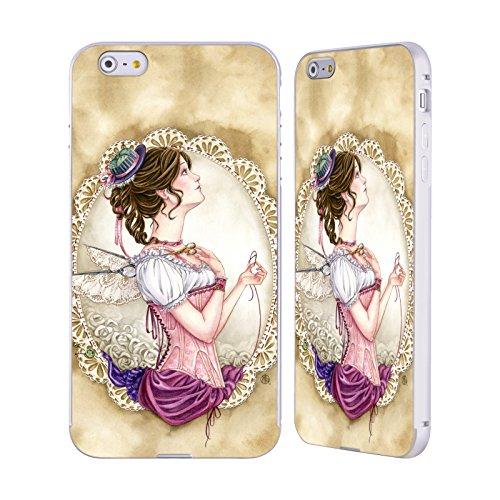 Ufficiale Meredith Dillman Fantasioso Fate Argento Cover Contorno con Bumper in Alluminio per Apple iPhone 6 Plus / 6s Plus Fantasioso