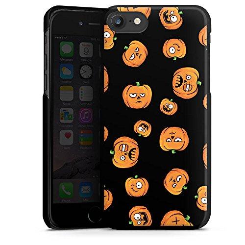 Apple iPhone 7 Plus Silikon Hülle Case Schutzhülle Kürbis Muster Halloween Hard Case schwarz