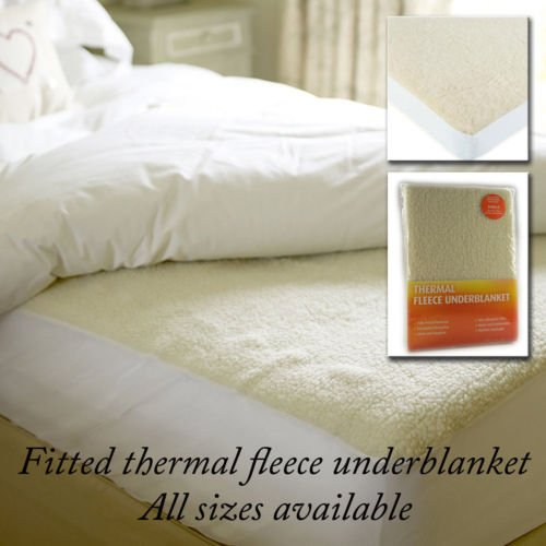 Thermo King-size-decke (Luxus-Thermo Fleece Unter Decke, deep Spannbettlaken Warm Matratzenauflage Displayschutzfolie, King Size)