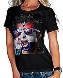 Stylotex Damen/Girlie T-Shirt So sehn Sieger aus Shout for Croatia Hrvatska Kroatien, Größe:L, Farbe:schwarz