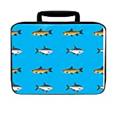 Fish Blue Insulated Lunch Box Bag