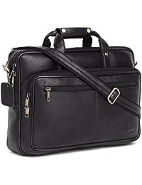 WildHorn 100% Genuine Leather Laptop Messenger Bag.(Black NDM) Dimension: L- 16inch H- 11.5inch W- 3.5inch