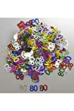 Confettis de table 80 ans multicolores (14 g)