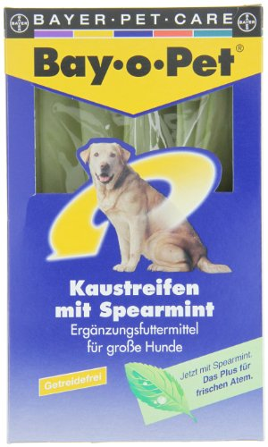 Bayer Mouth Guard 33270 Bay-o-Pet Zahnpflege Kaustreifen Spearmint großer Hund 140 g - 2