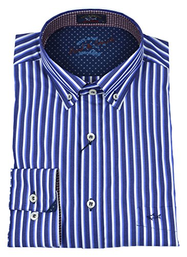 Paul & shark uomo camicia button down righe blu bianco slim i17p3013sf 035-25188 - 41