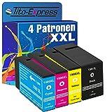 PlatinumSerie® 4x Tinten-Patrone XXL kompatibel für Canon PGI-1500 XL Maxify MB 2000 Series MB 2050 MB 2300 Series MB 2350 MB 2700 Series MB 2750 MB 2755