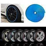 RIMBLADE Car Alloy Wheel Rim Protectors Tire Guard Line Rubber Moulding (Blue)