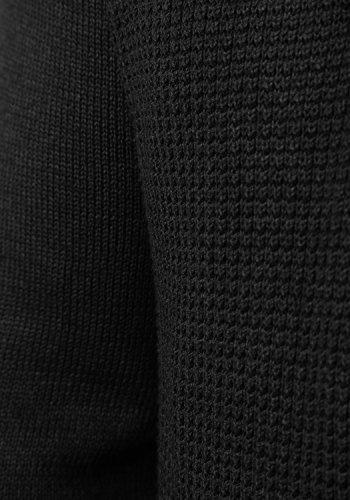 !Solid Tyrell Herren Strickjacke Cardigan Feinstrick Mit V-Ausschnitt und Knopfleiste, Größe:M, Farbe:Black (9000) - 6