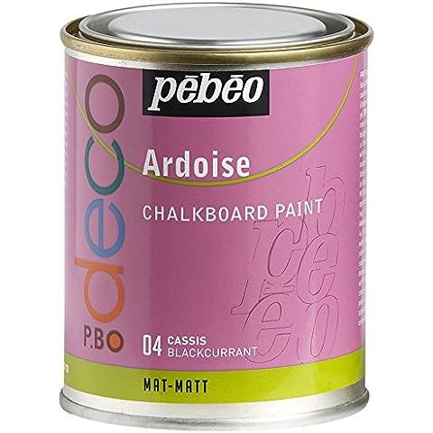 Pebeo - Pintura efecto pizarra (250 ml), color negro