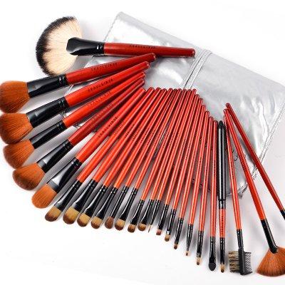 25x pinceaux de maquillage cosmetique complet + trousse pratique