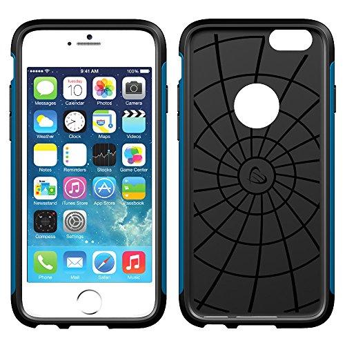 iPhone 6 Plus, ® ULTRA LUVVITT ARMOR iPhone 6 Plus Case/Schutzhülle für Apple iPhone 6 Plus passt 13.97 cm Display, Double Layer stoßdämpfende Schutzhülle (passt nicht für iPhone 5/5S/5C/4/4s und iPho blaumetallic