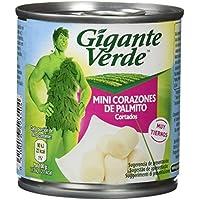 Gigante Verde - Lata De Mini Corazones De Palmito Cortados 200 g - [Pack de 12]