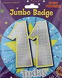Age 11 Boy Birthday Badge 11th Birthday Badge Jumbo Badge Large Big Badge Fun house