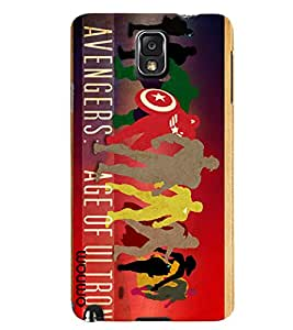 Omnam Avengers Age Of Ultron Printed Designer Back Cover Case For Samsung Galaxy Note 3