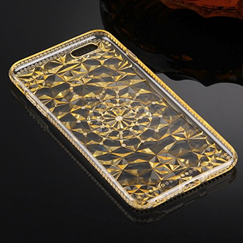 Phone case & Hülle Für iPhone 6 Plus / 6s Plus, Diamond Encrusted Soft TPU Schutzhülle Rückseite ( Color : Purple ) Gold