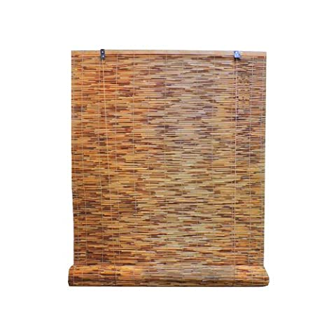 Radiance 3370730 Reed Woven Wood Bamboo Roll Up Window Blind, 48-Inch Wide by 72-Inch Long, Cocoa by Lewis Hyman