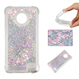 Moto E4 Case[with Screen Protector], BoxTii� Moto E4 Glitter Liquid TPU Cover, Shockproof Protective Case for Moto E4 (White)