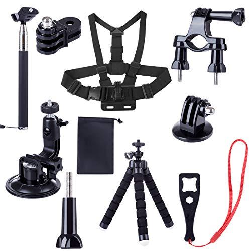 TETAKE Erweiterungsset Combo Zubehör Expansion Kit für DJI Osmo Action Cam Digitale Actionkamera - Stativ Adapter Fahrradhalterung Brustgurt Verlängerungsstange