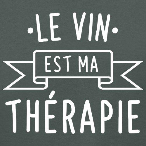 Le vin est ma thérapie - Femme T-Shirt - 14 couleur Gris Foncé