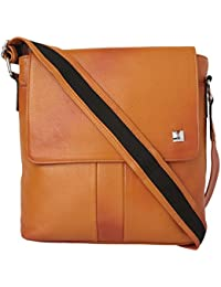 Taj Leather World Women's Tan Leather Sling Bag