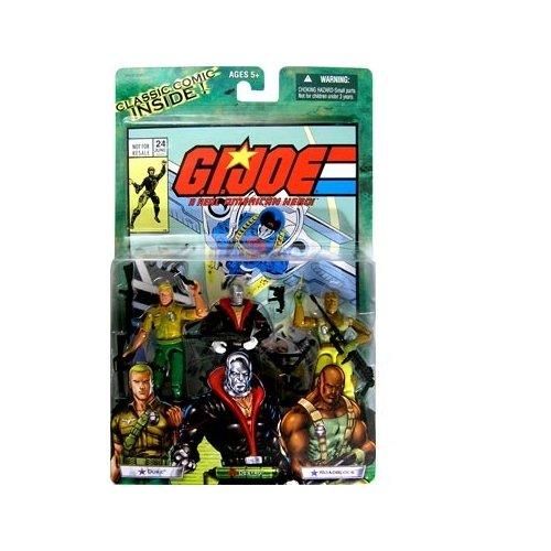 GI Joe Action-Figur 3er-Pack mit Comic-Buch (Duke, Destro und Roadblock)