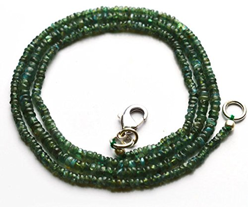 1Strand Natural Alejandrita Crisoberilo suave Rondelle cuentas collar 19'Full Strand acabado collar raro 2–3,5mm